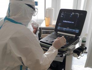 Hordozhato ultrahang készülék a Covidos betegekért