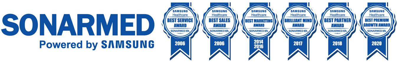 A SONARMED díjai a SAMSUNG -től és korábban a MEDISON -tól